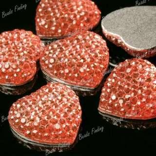 Wholesale Resin Heart Love crystal cabochon cameo flatback settings