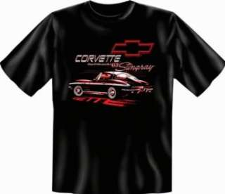 US Car & Oldtimer T Shirt Chevrolet   63 Stingray