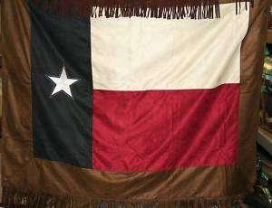 WESTERN Decor COWBOY TEXAS FLAG Blanket Throw QUILT