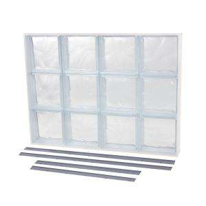 in. Wave Pattern Solid Glass Block Window NU2 3222WS