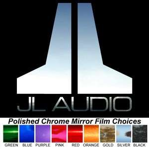 JL AUDIO Polished Chrome 6 inch Decals Window Stickers