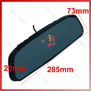 LED Car 4 Parking Sensor Backup Radar Rearview Mirror R