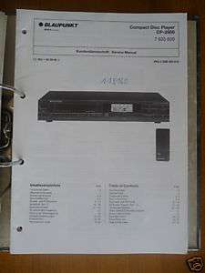 Service Manual Blaupunkt CP 2850 CD Player,ORIGINAL