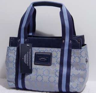 NEW Tommy HilfgerTH Blue Small Tote Bag Purse Handbag