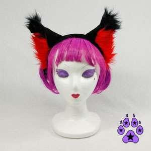 WOLF fox cosplay CANINE Anime HEADBAND Hat EARS cat RED