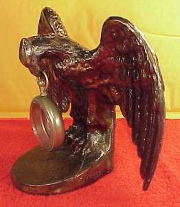Plated EAGLE Pocket Watch Holder Stand 6 1/2 inch Tall 9 inch Wingspan