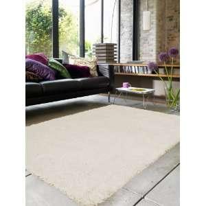 Hochflor Shaggy Teppich COMO DELUXE Beige 150x150 cm: .de