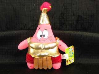 NEW Plush Patrick Sponge Bob Roman Gladiator Starfish