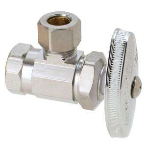 BrassCraft 3/8 in. FIP Inlet x 3/8 in. OD Tube Outlet Chrome Plated