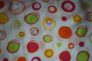 HOT PINK/LIME/ORANGE POLKA DOTS CIRCLES BOUTIQUE FABRIC