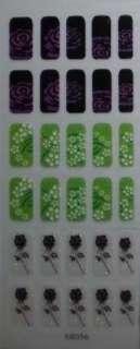 600 Glitter Nail Stickers flower butterfly heart