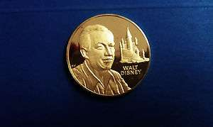 09 Oz (Tr) WALT DISNEY Franklin Mint STERLING SILVER 24K GOLD PLATED