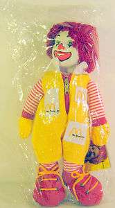 Ronald Mcdonald Doll Mint Wrapped