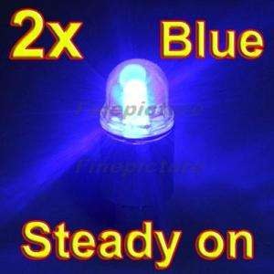 2X Blue Wheel LED light + Battery Automatic Sensor Bike