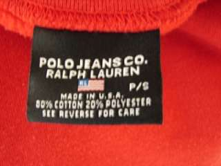 Ralph Lauren Polo Red Sweatshirt Top Flag Emblem Shirt S Charity Sale