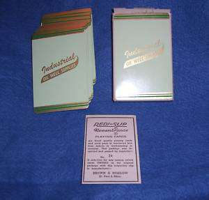 Vinage Playing Card INDUSRIAL OIL WELL SUPPLIES Boxed |