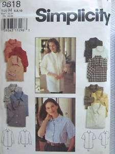 UNCUT Simplicity Pattern Misses Loose Fitting Shirt
