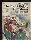 The Night Before Christmas Coloring Book by John OBrien Dover Clement