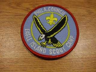 BSA Boy Scout Philadelphia Council Eagle Island Camp Patch