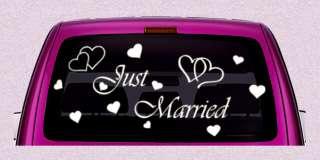 Just Married Hochzeit Aufkleber Set Sticker Schriftzug