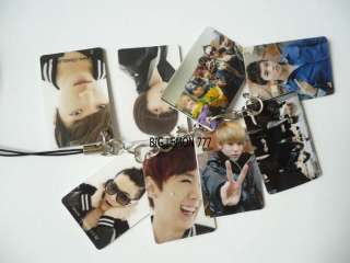 Teen Top Korean Mobile /Cell Phone Strap Keychain Keyring N3