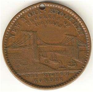 OBV PROGRESS 100 YEARS OF BROOKLYN BRIDGE 1789  8TH WONDER