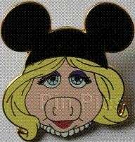 MISS PIGGY MUPPETS WITH Mickey MOUSE EARS Disney Pin