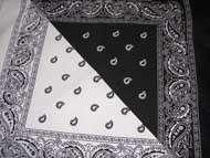 IN 1 SPLIT BLACK WHITE PAISLEY BANDANA BIKER SKULL SCARF NEW