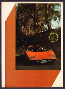 1976 Lamborghini Countach Road Test & Technical Data