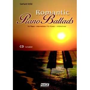 Romantic Piano Ballads 18 romantische Pop Balladen, mittelschwer