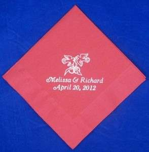 250 Personalized Luncheon Napkins custom printed