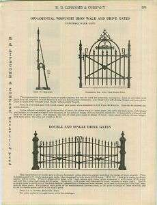 1913 Universal Ornamental Wrought Iron Gate Drive ad