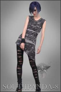 SC086 Dark Grey Fashion Sleeveless T shirt Punk Rock