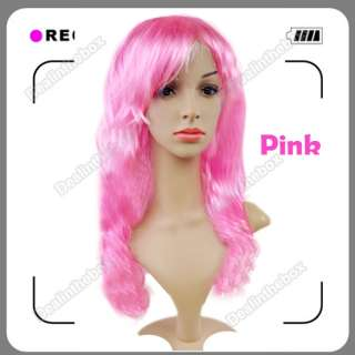 Fashion Stylish Long Wavy Curly Cosplay Party Fancy Dress Fake Hair
