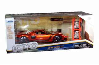 JADA LOPRO 2005 FORD GT 1/24 WITH EXTRA WHEELS ORANGE