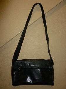 PERLINA NEW YORK GENUINE LEATHER SMALL HANDBAG PURSE HOBO SHOULDER BAG