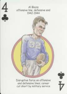 AL BLOZIS   Oddball NEW YORK GIANTS Playing Card