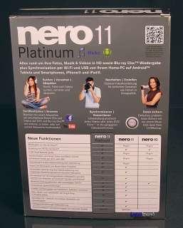 Nero 11 Platinum HD Vollversion Box NEU Fotos, Musik, Video brennen