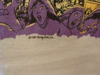 VINTAGE 1980S MOTLEY CRUE T SHIRT ROCK & ROLL CONCERT TOUR L