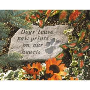 Dogs Leave Paw Prints   Dog Garden Stone