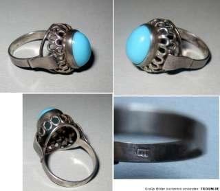 Ring mit blauem Stein, 835 Silber