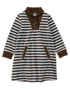 GYMBOREE GIRLS BEST FRIEND STRIPE VELOUR DRESS 4 5 6 8