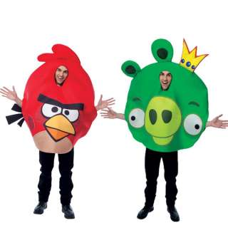 Angry Birds Red Bird & King Pig Couples Costume Set