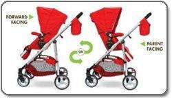 NEW THE FIRST YEARS INDIGO STROLLER, RETRO RED