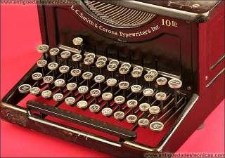 Decorativa Máquina de escribir LC Smith 8 10. 1915