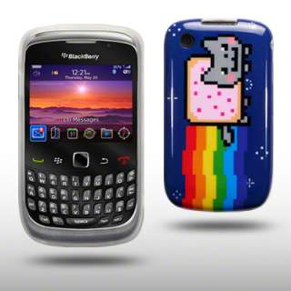 TPU GEL CASE / COVER FOR BLACKBERRY CURVE 3G 9300 / 8520   NYAN CAT