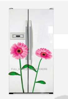 PINK GERBERA FLOWER Art Deco Mural WALL STICKER *FREE S