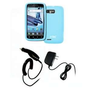 EMPIRE Motorola Atrix 2 Light Blue Silicone Skin Case
