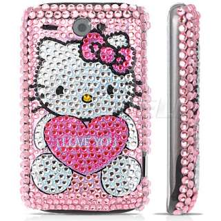 PINK HELLO KITTY CRYSTAL BLING CASE FOR HTC WILDFIRE