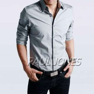 Mens Casual Slim Stylish Dress Shirts  8 Colors Available,POO